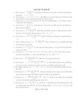 Bài tập về hàm số thi ôn Đại học