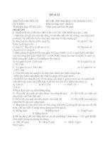 Đề thi thử đại học môn hóa học - đề 11