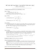 Đề thi thử đại học môn toán - đề 6
