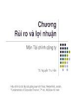 chương 13 Rui ro va loi nhuan [Compatibility Mode]