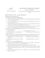 Đề thi thử đại học môn hóa học - đề 14