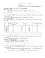 Đề thi thử đại học môn địa lý - đề 5