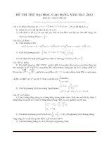Đề thi thử đại học môn toán - đề 12