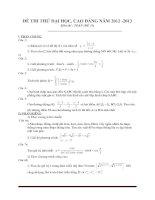 Đề thi thử đại học môn toán - đề 15