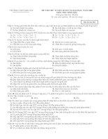 Đề thi thử ĐH-CĐ Sinh học lần 2 - 2008 (THPT Sơn Tây-Hà Tây)