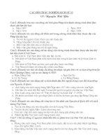 Ngân hàng câu hỏi lịch sử 12