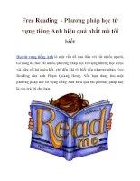 Tài liệu Free Reading - Phương pháp học từ vựng tiếng Anh hiệu quả nhất mà tôi biết pot
