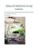 Tài liệu Những mẫu thiết kế hiên nhà đẹp hoàn hảo pdf