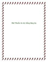 Tài liệu Bài Thuốc từ cây bằng lăng tía pptx