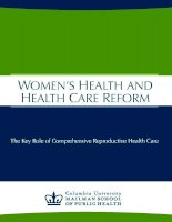 Tài liệu WOMEN'S HEALTH AND HEALTH CARE REFORM docx