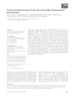 Tài liệu Báo cáo khoa học: Fatty acid desaturases from the microalga Thalassiosira pseudonana pptx