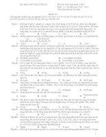 Tài liệu TRƯỜNG THPT NGUYỄN DU ĐỀ THI THỬ ĐẠI HỌC LẦN I Khối : A – B; Năm học: 2012 - 2013 pot