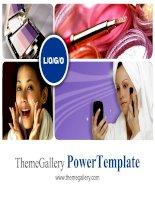 template powerpoint  838tgp makeup light