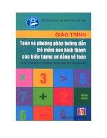 Tài liệu Giáo trình toán và phương pháp hướng dẫn trẻ mầm non hình thành các biểu tượng sơ đẳng về toán pdf