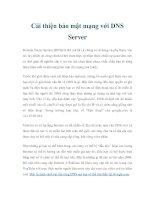 Tài liệu Cải thiện bảo mật mạng với DNS Server ppt