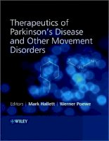 Tài liệu THERAPEUTICS of PARKINSON'S DISEASE and OTHER MOVEMENT DISORDERS docx