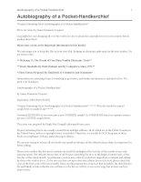 Tài liệu Autobiography of a Pocket-Handkerchief pdf