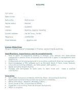 RESUME - Tổng hợp các mẫu viết đơn xin việc bằng Tiếng Anh -    SampleResume