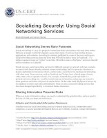 Tài liệu Socializing Securely: Using Social Networking Services doc