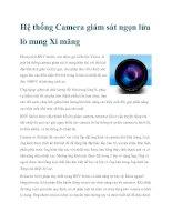 Tài liệu Hệ thống Camera giám sát ngọn lửa lò nung Xi măng pdf