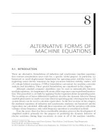 Chapter 8  alternative forms of machine equations