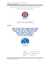 một số giải pháp nhằm hoàn thiện công tác lập dự toán sản xuất kinh doanh tại cty dutch lady việt nam )