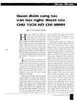 Tài liệu Báo cáo khoa học: Quan điểm sáng tác văn học nghệ thuật của chủ tịch Hồ Chí Minh pptx