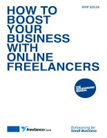 How to boost your business with online freelancers
