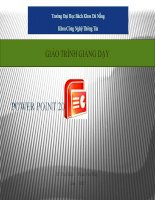 Tài liệu Bai Giang Power point 2007 docx
