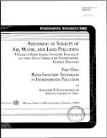Tài liệu Environmental Technology Series - Part 1: Rapid Inventory Techniques in Enviromental Polllution doc