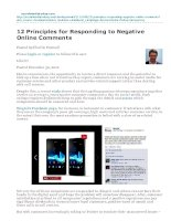 12 Principles for Responding to Negative Online Comments