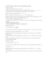 Tài liệu Đề Thi Thử Tốt Nghiệp Toán 2013 - Phần 2 - Đề 18 docx