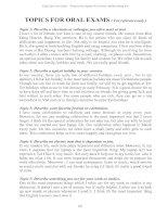 40 topics for TOEFL oral exams