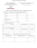 Mẫu biên bản bàn giao công việc và hồ sơ tài liệu trước khi nghỉ việc