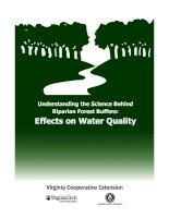 Tài liệu Understanding the Science Behind Riparian Forest Buffers: Effects on Water Quality pdf
