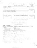 Tài liệu Đề thi công chức môn Tiếng Anh trình độ B potx
