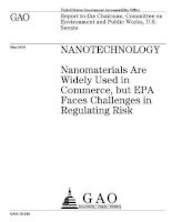 Tài liệu nanotechnology nanomaterials are widely used in commerce but epa faces pptx