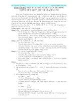 Tài liệu CHUYÊN ĐỀ: BIỆN LUẬN SỐ NGHỆM CỦA PHƯƠNG TRÌNH DỰA TRÊN ĐỒ THỊ CỦA HÀM SỐ doc
