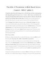Tài liệu Tìm hiểu về Permission và Role Based Access Control – RBAC (phần 1) docx