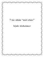 """Tài liệu 7 tác nhân """"mời chào"""" bệnh Alzheimer ppt"""