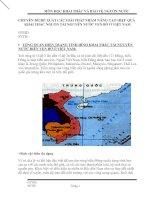 ĐỀ XUẤT CÁC GIẢI PHÁP NHẰM NÂNG CAO HIỆU QUẢ  KHAI THÁC NGUỒN TÀI NGUYÊN NƯỚC VEN BỜ Ở VIỆT NAM
