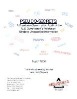 Tài liệu PSEUDO-SECRETS: A Freedom of Information Audit of the U.S. Government's Policies on Sensitive Unclassified Information doc
