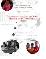 Luận văn thạc sỹ khoa học địa lý Nghiên cứu cơ cấu dân số theo giới tính ở VN 1999-2009