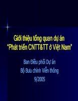 """Tài liệu Giới thiệu tổng quan dự án """"Phát triển CNTT&TT ở Việt Nam"""" pptx"""