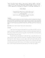 Tái chuẩn hóa bằng phương pháp điều chỉnh thứ nguyên trong lý thuyết trường lượng tử