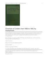 Tài liệu Chronicle of London from 1089 to 1483 pdf