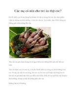 Tài liệu Các mẹ có nên cho trẻ ăn thịt cóc? pptx