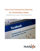 Tài liệu How to Use Facebook for Business:An Introductory Guide pptx