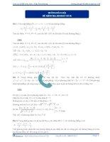 Hướng dẫn giải đề kiểm tra định kỳ số 6 - 2013 môn toán thầy phương