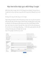 Tài liệu Mẹo tìm kiếm hiệu quả nhất bằng Google pdf
